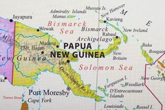 mapa nowego gwinei Papua obraz royalty free