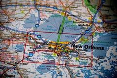 mapa nowego Orleanu Obraz Royalty Free