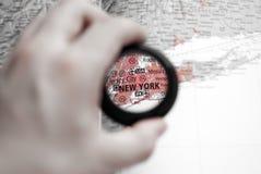 mapa nowy York Fotografia Stock