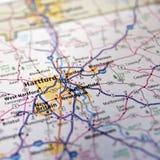 Mapa o atlas de la carretera de Connecticut Fotografía de archivo