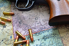 Mapa occidental II Imagenes de archivo