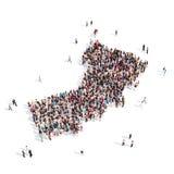 Mapa Omán de la forma del grupo de la gente Libre Illustration