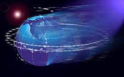 Mapa ou globo de mundo Foto de Stock Royalty Free