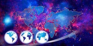 Mapa ou globo de mundo ilustração do vetor