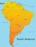 Mapa północny America Fotografia Royalty Free