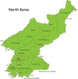 Mapa Północny Korea ilustracji