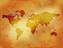 Mapa/papel do Velho Mundo Imagens de Stock Royalty Free