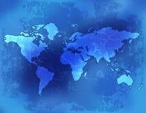 Mapa/papel do Velho Mundo Foto de Stock