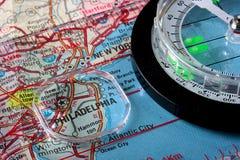 Mapa Philadelphfia Foto de Stock Royalty Free