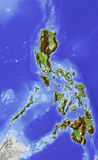 mapa Philippines reliefowi Zdjęcie Royalty Free