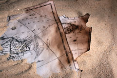 mapa piasek Obraz Royalty Free