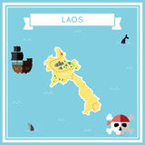 Mapa plano del tesoro del ` s de Lao People Democratic libre illustration