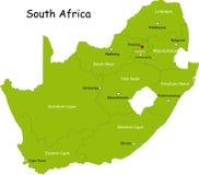 Mapa Południowa Afryka Zdjęcie Royalty Free