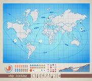 mapa podpisuje świat ilustracja wektor