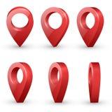 Mapa pointerów wektoru set Zdjęcie Royalty Free