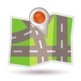 mapa pointer Zdjęcia Stock