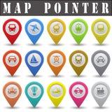 Mapa pointer Zdjęcie Stock