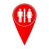 Mapa pointeru toillets Zdjęcia Royalty Free