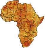 Mapa político de África Fotografia de Stock Royalty Free