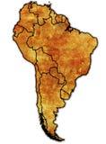 Mapa político de Ámérica do Sul Fotografia de Stock Royalty Free