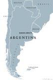 Mapa político de Argentina ilustração royalty free