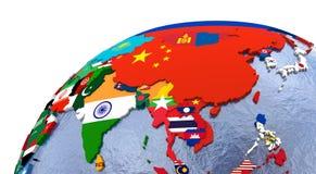 Mapa político de Asia Fotos de archivo