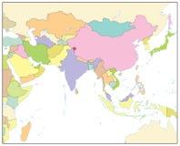 Mapa político de Asia del Sur aislado en blanco NINGÚN texto Fotografía de archivo libre de regalías
