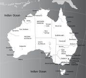 Mapa político de Austrália Foto de Stock Royalty Free