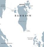 Mapa político de Bahrein ilustración del vector