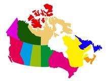 Mapa político de Canadá ilustração do vetor