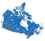 Mapa político de Canadá Fotografia de Stock Royalty Free