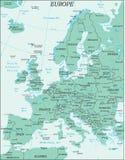Mapa político de Europa Foto de archivo libre de regalías