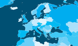 Mapa político de Europa Fotografia de Stock Royalty Free