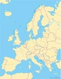 Mapa político de Europa e região circunvizinha Fotos de Stock Royalty Free