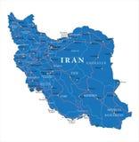 Mapa político de Irã Ilustração Stock