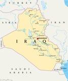Mapa político de Iraque ilustração stock