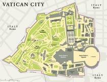 Mapa político de la Ciudad del Vaticano ilustración del vector