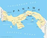 Mapa político de Panamá ilustração stock