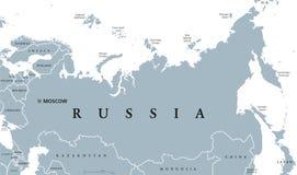 Mapa político de Rússia Foto de Stock