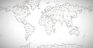 Mapa político del mundo Alto mapa del mundo del detalle Todos los elementos se separan en capas etiquetados claramente Extracto d Imagen de archivo libre de regalías