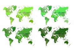 Mapa político do mundo Imagens de Stock Royalty Free