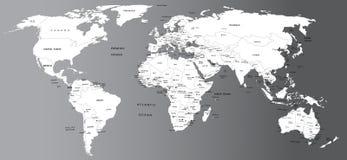 Mapa político do mundo Foto de Stock Royalty Free