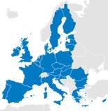 Mapa político dos países da União Europeia Foto de Stock
