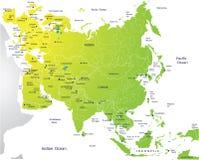 Mapa político de Eurasia Fotografia de Stock