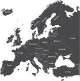 Mapa político de Europa Imagens de Stock