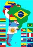Mapa político de Suramérica, vector Imagen de archivo libre de regalías