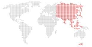 Mapa pontilhado mundo Foto de Stock Royalty Free