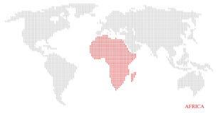 Mapa pontilhado mundo Imagem de Stock