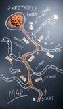 Mapa por completo de sorpresas dulces Fotografía de archivo