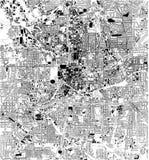 Mapa por satélite de Atlanta, Georgia, los E.E.U.U., calles de la ciudad ilustración del vector